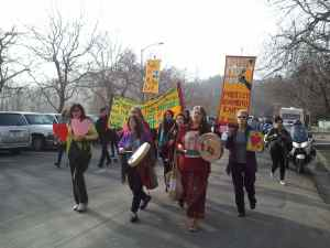 A march for climate justice in Richmond, CA on February 14, 2014.